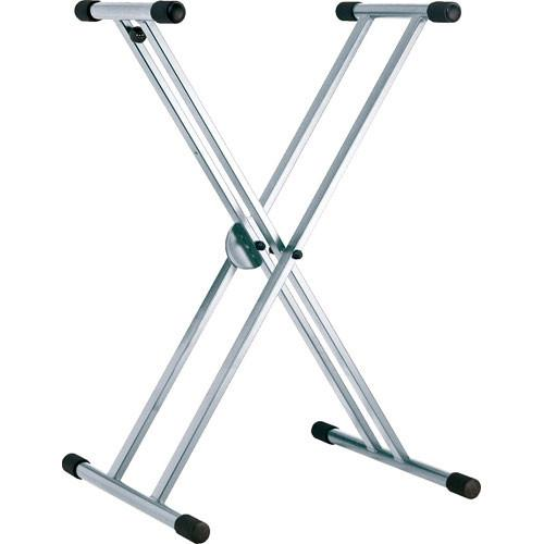 K&M 18990 Rick - Double Brace Keyboard Stand (Black)