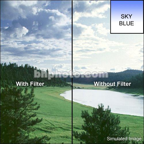 LEE Filters 100 x 150mm Soft-Edge Graduated Blue 1 Filter BG1S