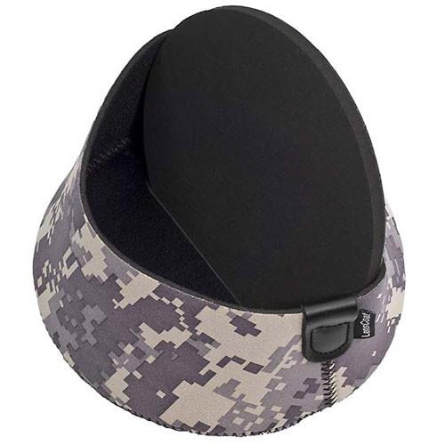 LensCoat Hoodie Lens Hood Cover (Large, Forest Green Camo)