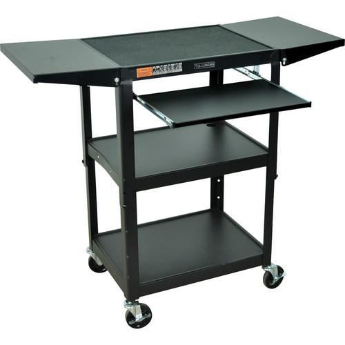 Luxor Adjustable Height Steel A/V Cart with Keyboard AVJ42KBDL