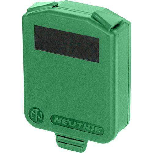 Neutrik Hinged Cover for D-Size Chassis-Green SCDX-5-GREEN