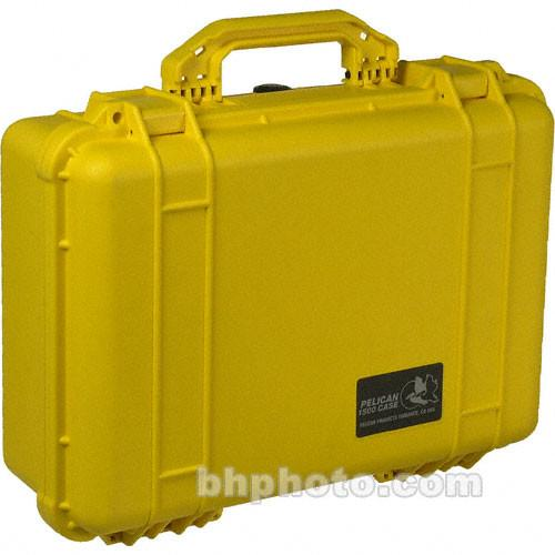 Pelican 1500NF Case without Foam (Yellow) 1500-001-240