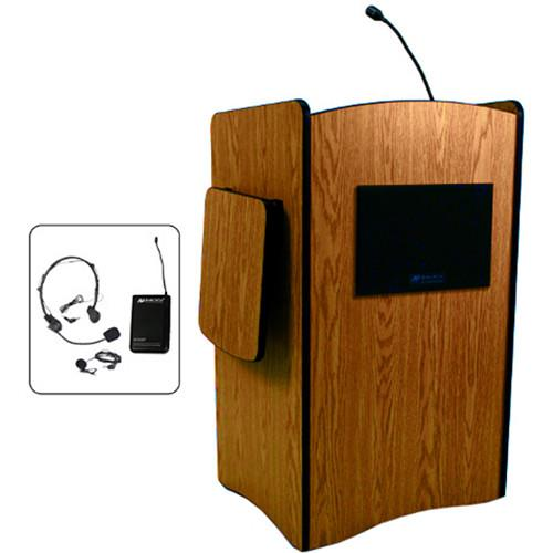 AmpliVox Sound Systems Multimedia Computer Lectern SW3230-MP-HS