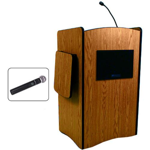 AmpliVox Sound Systems Multimedia Computer Lectern SW3230-WT-HH
