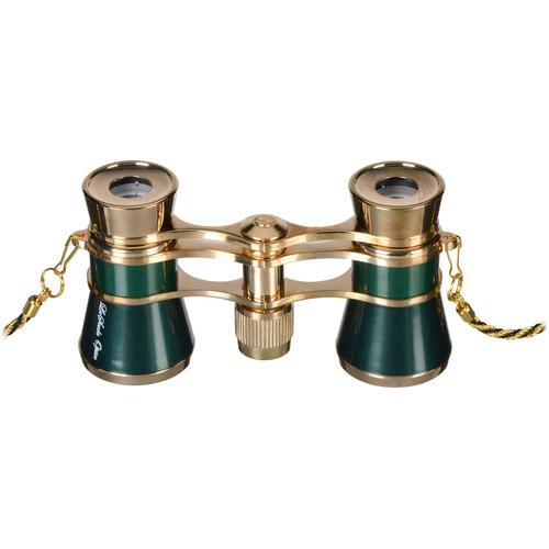 LaScala Optics 3x25 Carmen Opera Glasses (Green / Gold) LSC-11
