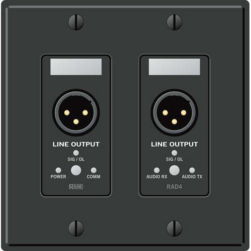 Rane RAD 4 2 Gang Wall Plate with 2 Line Outputs (Ivory) RAD4I