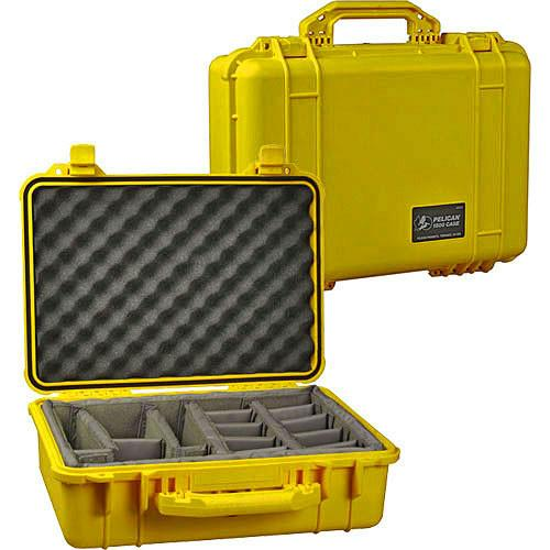 Pelican 1554 Waterproof 1550 Case with Dividers 1550-004-130