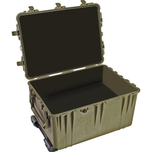 Pelican 1660NF Case without Foam (Olive Drab Green) 1660-021-130, Pelican, 1660NF, Case, without, Foam, Olive, Drab, Green, 1660-021-130