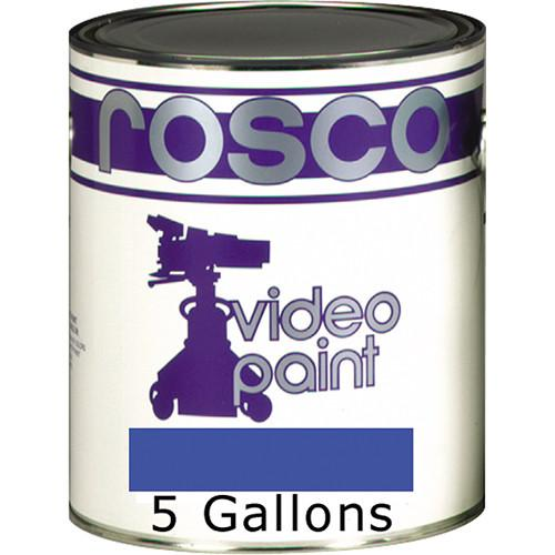 Rosco Chroma Key Paint (Blue, 5 Gallons) 150057100640