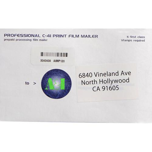 A&I Processing and Printing Mailer for 120 Color Negative C41120
