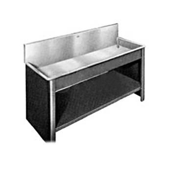 Arkay Black Vinyl-Clad Steel Stand and Shelf 18x108x10