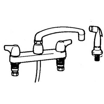 Arkay K200-DS Hot & Cold Swing Deck-Mount Faucet 90Z
