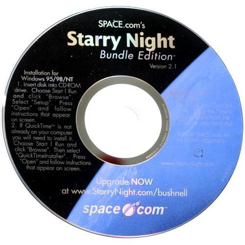 Bushnell Starry Night CD Software (Version 2.1) 781234