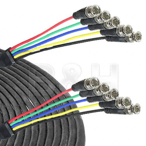 Canare 5-BNC Male to 5-BNC Male Cable - 25 ft CA5B5B25
