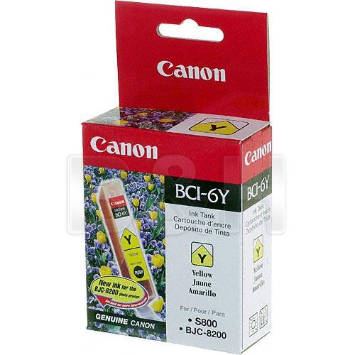 Canon  BCI-6Y Yellow Ink Tank 4708A003