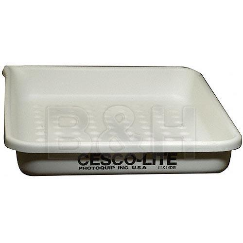 Cescolite 11x14 Dimple Bottom Plastic Developing Tray CLDB1114
