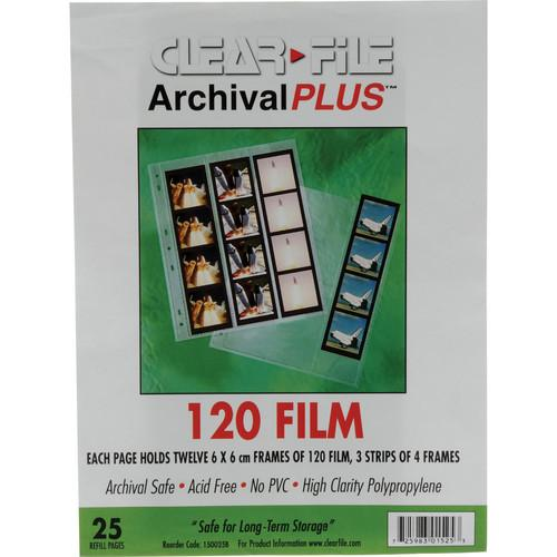 ClearFile Archival Plus Negative Page, 6x6cm - 25 Pack 150025B