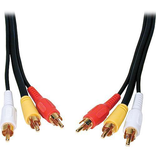 Comprehensive 3-RCA Male to 3-RCA Male Cable - 10 3RCA-3RCA-10ST