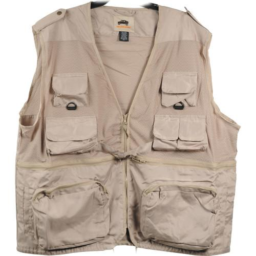 Humvee by CampCo Combat Photo Vest, Large (Khaki) HMV-VC-K-L