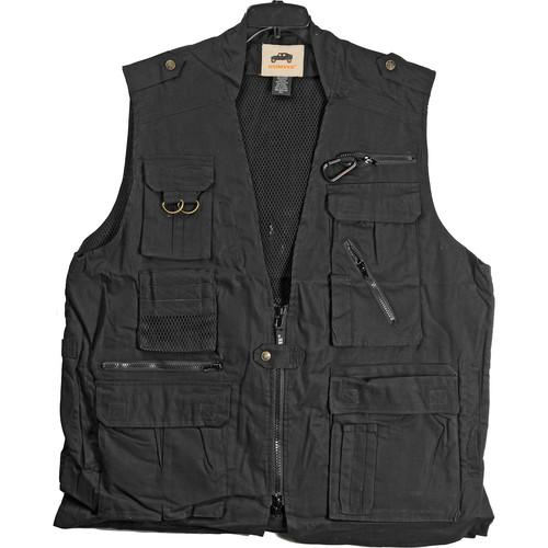 Humvee by CampCo Safari Photo Vest (X-Large, Black) HMV-VS-BK-XL