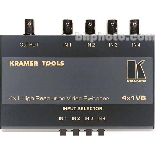 Kramer 4X1VB Mechanical Video Switcher, 4x1 (BNC) 4X1VB