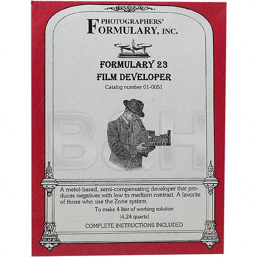 Photographers' Formulary #23 Developer for Black & 01-0051