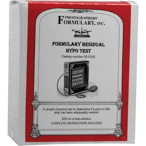 Photographers' Formulary Residual Hypo Test - 200ml 03-0160