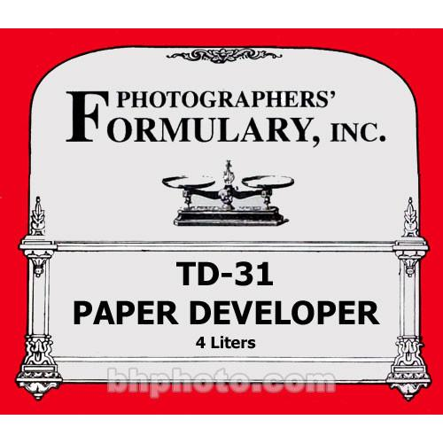 Photographers' Formulary TD-31 Developer for Black & 02-0113