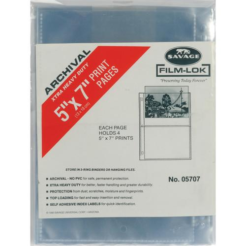 Savage Film-Lok Archival Storage Page for Prints- 05707-1