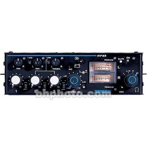 Shure  FP33 3-Channel Stereo Mixer FP33