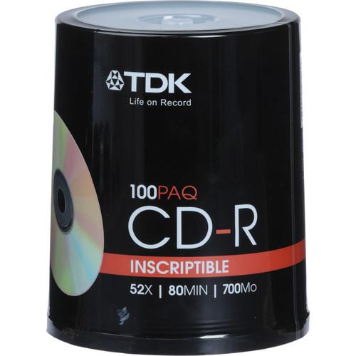 TDK CD-R Inscriptible Compact Discs (Spindle Pack of 100) 48555