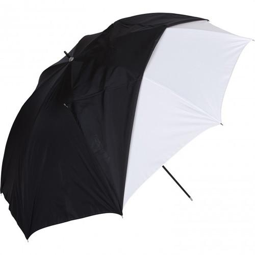 Westcott White Satin Umbrella with Removable Black Cover 2016