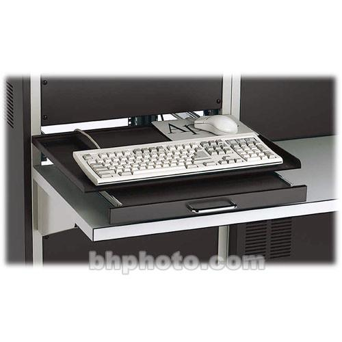 Winsted 88398 Rack Mount Swivel Keyboard Shelf (Black) 88398