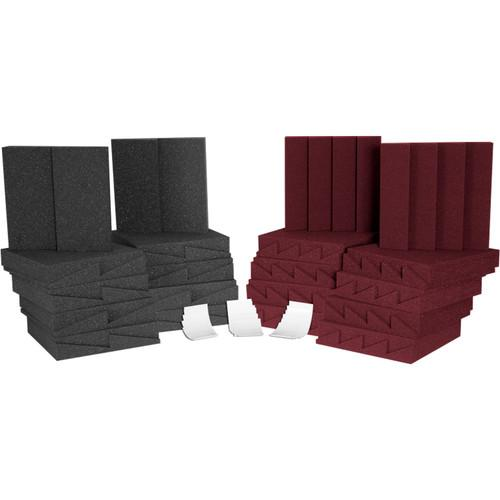Auralex D36 (Charcoal Grey/Burgundy) Roominators Kit D36CHA/BUR
