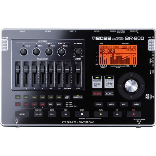 BOSS BR-800 8-Track Portable Digital Audio Recorder BR-800