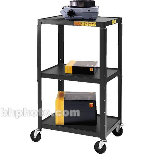 Bretford Adjustable AV Cart with 3 Shelves and 2-outlet A2642-E5