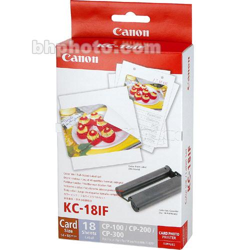 Canon  KC-18IF Color Ink & Label Set 7741A001