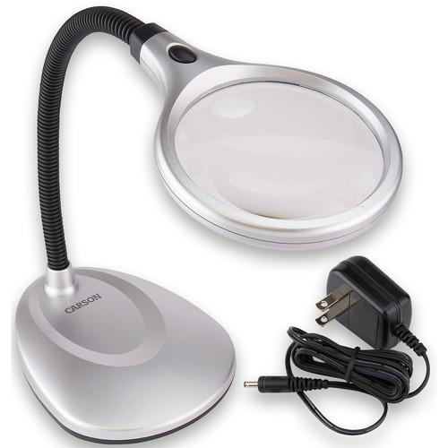 Carson LM-20 2x DeskBrite 200 Desk Lamp Magnifier with 5x LM-20