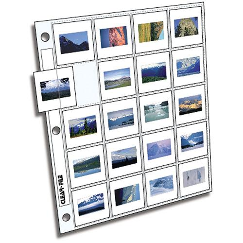 ClearFile Archival-Plus Slide Page, 35mm - 100 Pack 220100B
