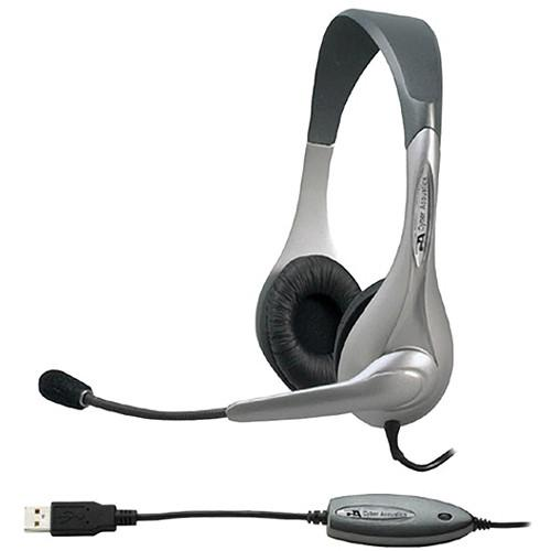 Cyber Acoustics AC-850 USB Stereo Headset and Boom Mic AC-850