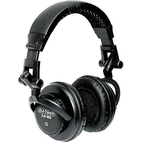 DJ-Tech  DJH-200 On-Ear DJ Headphones DJH-200