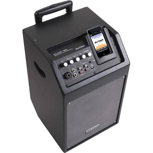 DJ-Tech iCube 90 Powered PA Speaker for iPod ICUBE 90