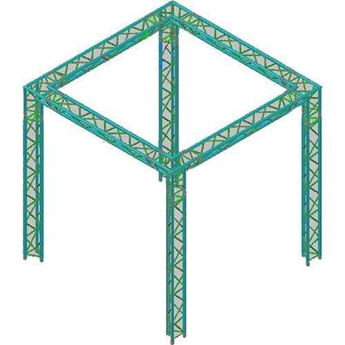 Global Truss Global Truss TR-10x10 Triangular Booth TR-10X10