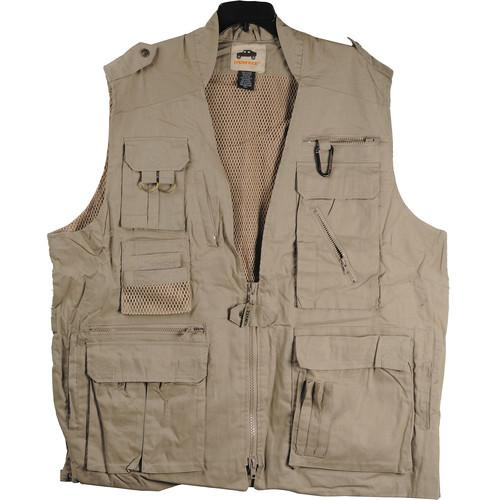 Humvee by CampCo Safari Photo Vest (Medium, Khaki) HMV-VS-K-M