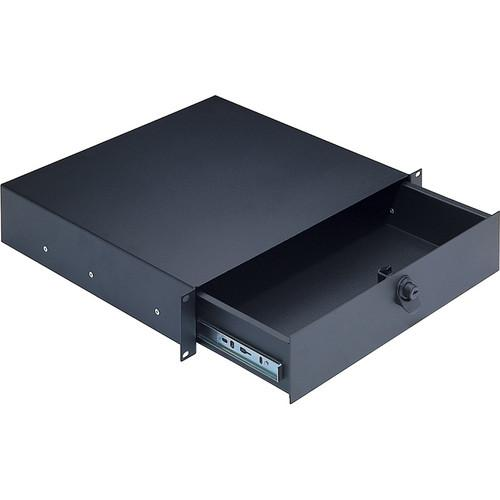 K&M  491/2 2 space Rackmount Storage 49122-072-55