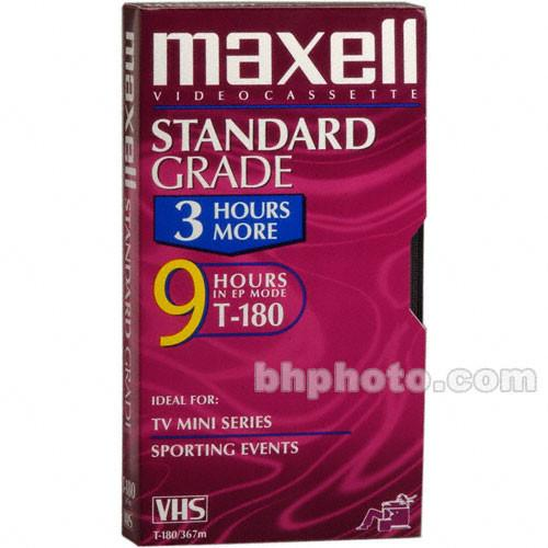 Maxell  STD-180 VHS Video Cassette 213027