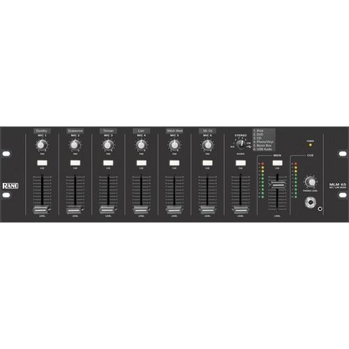 Rane MLM 65 Microphone and Line Audio Mixer MLM 65