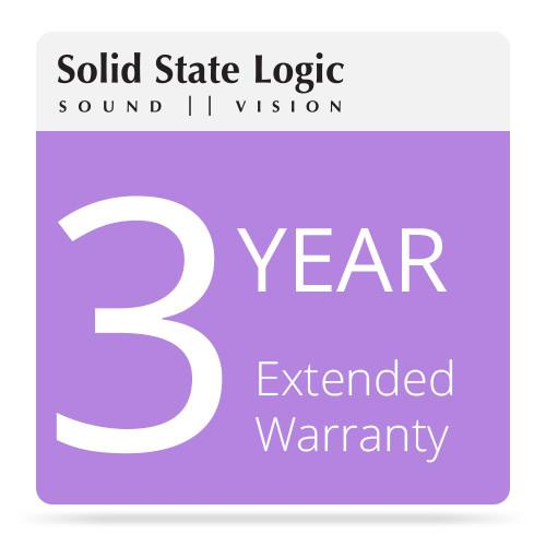 Solid State Logic 3-Year Extended Warranty 82S6SP060AX3