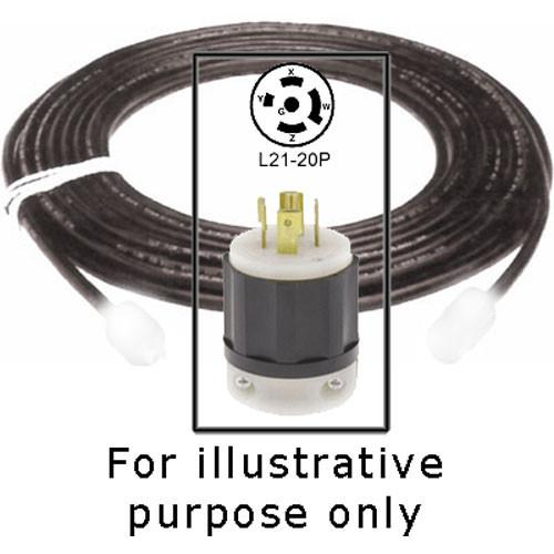 Strand Lighting Cable with L21-20P Plug -8' 71437