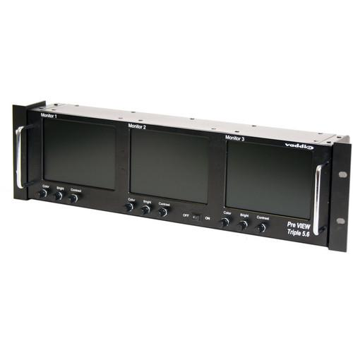 Vaddio PreVIEW Triple LCD Rack Mount Monitor 999-5500-003
